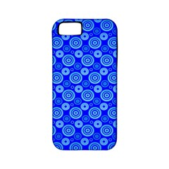 Neon Circles Vector Seamles Blue Apple iPhone 5 Classic Hardshell Case (PC+Silicone)