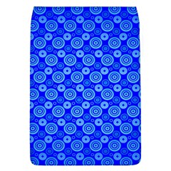 Neon Circles Vector Seamles Blue Flap Covers (L)