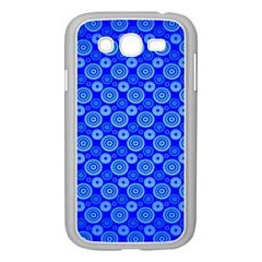 Neon Circles Vector Seamles Blue Samsung Galaxy Grand DUOS I9082 Case (White)
