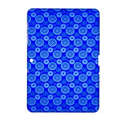 Neon Circles Vector Seamles Blue Samsung Galaxy Tab 2 (10.1 ) P5100 Hardshell Case