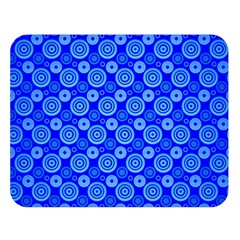 Neon Circles Vector Seamles Blue Double Sided Flano Blanket (Large)