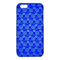 Neon Circles Vector Seamles Blue iPhone 6/6S TPU Case
