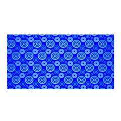 Neon Circles Vector Seamles Blue Satin Wrap