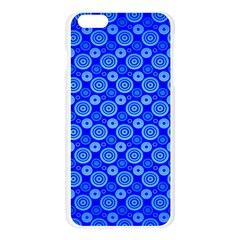 Neon Circles Vector Seamles Blue Apple Seamless iPhone 6 Plus/6S Plus Case (Transparent)