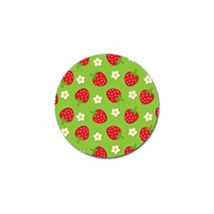 Strawberries Flower Floral Red Green Golf Ball Marker (4 pack)