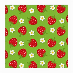 Strawberries Flower Floral Red Green Medium Glasses Cloth