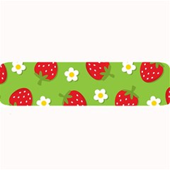 Strawberries Flower Floral Red Green Large Bar Mats