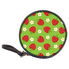 Strawberries Flower Floral Red Green Classic 20-CD Wallets