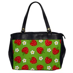 Strawberries Flower Floral Red Green Office Handbags