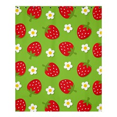 Strawberries Flower Floral Red Green Shower Curtain 60  x 72  (Medium)
