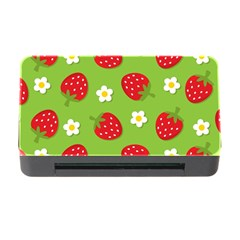 Strawberries Flower Floral Red Green Memory Card Reader with CF