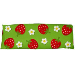 Strawberries Flower Floral Red Green Body Pillow Case Dakimakura (Two Sides)