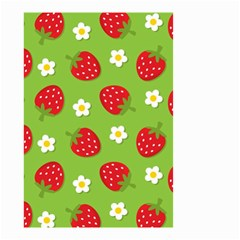 Strawberries Flower Floral Red Green Small Garden Flag (Two Sides)