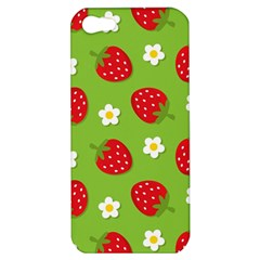 Strawberries Flower Floral Red Green Apple iPhone 5 Hardshell Case