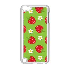 Strawberries Flower Floral Red Green Apple iPod Touch 5 Case (White)