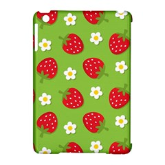 Strawberries Flower Floral Red Green Apple iPad Mini Hardshell Case (Compatible with Smart Cover)
