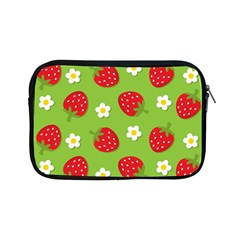 Strawberries Flower Floral Red Green Apple Ipad Mini Zipper Cases