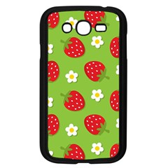 Strawberries Flower Floral Red Green Samsung Galaxy Grand DUOS I9082 Case (Black)