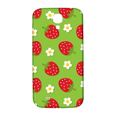 Strawberries Flower Floral Red Green Samsung Galaxy S4 I9500/I9505  Hardshell Back Case
