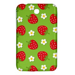 Strawberries Flower Floral Red Green Samsung Galaxy Tab 3 (7 ) P3200 Hardshell Case