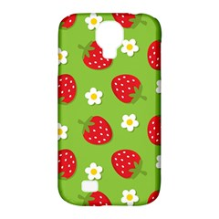 Strawberries Flower Floral Red Green Samsung Galaxy S4 Classic Hardshell Case (PC+Silicone)