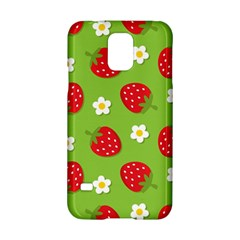Strawberries Flower Floral Red Green Samsung Galaxy S5 Hardshell Case