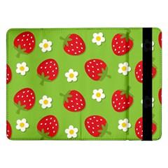 Strawberries Flower Floral Red Green Samsung Galaxy Tab Pro 12.2  Flip Case