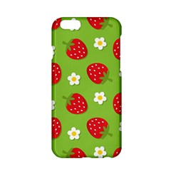 Strawberries Flower Floral Red Green Apple iPhone 6/6S Hardshell Case
