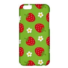 Strawberries Flower Floral Red Green Apple iPhone 6 Plus/6S Plus Hardshell Case