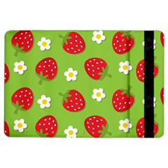 Strawberries Flower Floral Red Green iPad Air 2 Flip