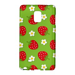 Strawberries Flower Floral Red Green Galaxy Note Edge