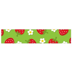 Strawberries Flower Floral Red Green Flano Scarf (Small)