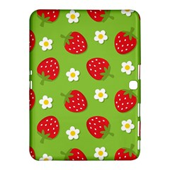 Strawberries Flower Floral Red Green Samsung Galaxy Tab 4 (10.1 ) Hardshell Case