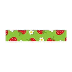 Strawberries Flower Floral Red Green Flano Scarf (Mini)