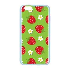 Strawberries Flower Floral Red Green Apple Seamless iPhone 6/6S Case (Color)