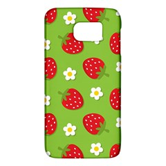 Strawberries Flower Floral Red Green Galaxy S6