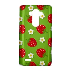 Strawberries Flower Floral Red Green LG G4 Hardshell Case