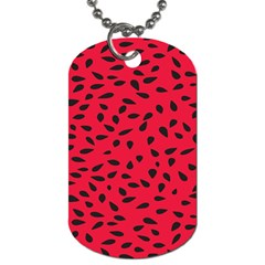 Watermelon Seeds Dog Tag (one Side)