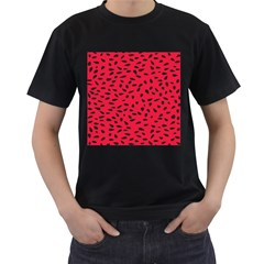 Watermelon Seeds Men s T-Shirt (Black) (Two Sided)