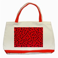 Watermelon Seeds Classic Tote Bag (Red)