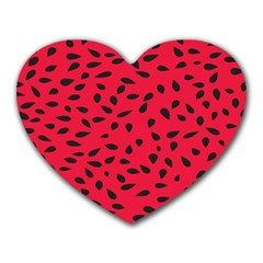 Watermelon Seeds Heart Mousepads