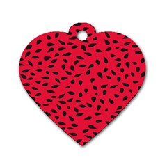 Watermelon Seeds Dog Tag Heart (One Side)