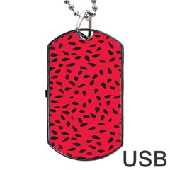 Watermelon Seeds Dog Tag USB Flash (Two Sides)