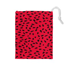 Watermelon Seeds Drawstring Pouches (large)