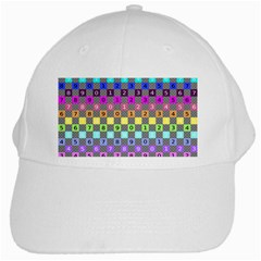 Test Number Color Rainbow White Cap