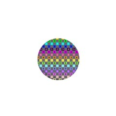 Test Number Color Rainbow 1  Mini Buttons