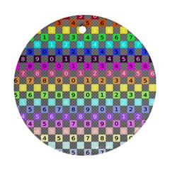 Test Number Color Rainbow Ornament (Round)