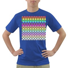 Test Number Color Rainbow Dark T-Shirt