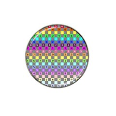 Test Number Color Rainbow Hat Clip Ball Marker