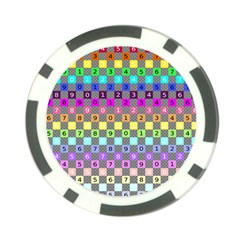 Test Number Color Rainbow Poker Chip Card Guard